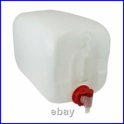 1 x 25 litre new plastic bottle jerry can water container approved + tap + lid