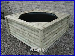 1000 Litre Free Standing Wooden Pond, Above Ground Pond Full Package Available