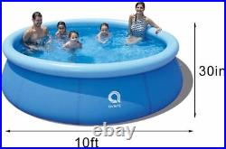 10ft x 30in Large New Kids Inflatable Above Ground Family Swimming Pool Easy Set