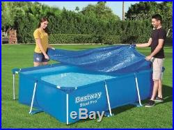 11in1 BestWay SWIMMING POOL 259x170 + Cover Rectangular Garden Above Ground Pool
