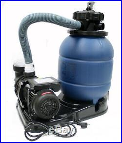 12 Sand Filter & 2880GPH Water Pump System for Intex Above Ground Swimming Pool