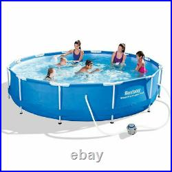 12 feet x 39.5 inch Steel Frame Pro Bestway Summer Above Ground Swimming Pool