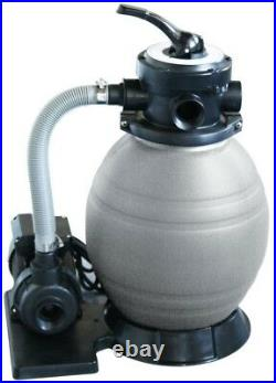 12 in. Above Ground Pool Sand Filter 1/2 HP Pump Corrosion-Proof Cartridge-Free