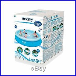12ft X 30inch Bestway Inflatable Fast Set Pool Garden Above Ground Swimming Pool