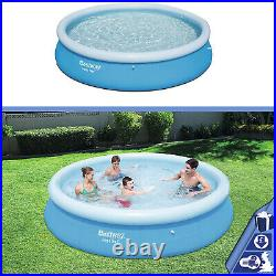 12ft x 30in Bestway Inflatable Fast Set Pool Garden Swimming Pool Above Ground
