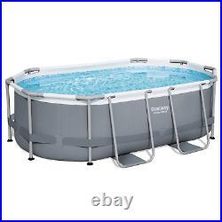 12in1 SWIMMING POOL BESTWAY 305cm x 200cm x 84cm Above Ground Oval Pool + PUMP