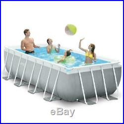 13FT Above Ground Pool Swimming Paddling Garden Intex with Pump & Ladder 2M