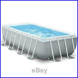 13FT Above Ground Pool Swimming Paddling Garden Intex with Pump & Ladder 4M