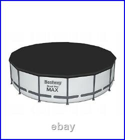 15in Set Bestway 56438 -15ft x 48in Above Ground Swimming Pool Round SteelProMax