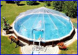 18' Round Above Ground Swimming Pool Solar Sun Dome Cover 14 Panel Sundome