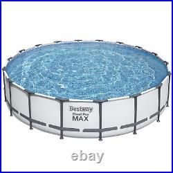 18in1 SWIMMING POOL BESTWAY 549cm 18ft Above Ground Round Pool + PUMP