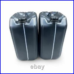 2 x 25 litre 25L 25000 ml new plastic bottle jerry can water container black