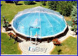 24' Round 18 Panel Above Ground Pool Dome- Doughboy, Lomart, Sharkline