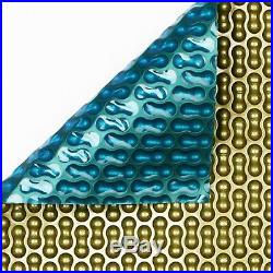 24ft x 12ft Geo-Bubble Gold/Jade 500 Micron Swimming Pool Solar Cover