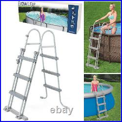 42 inch Bestway FlowClear Metal Frame Pool Step Ladder For Above Ground Swimming