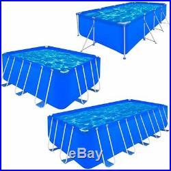 5 Size Above Ground Garden Swimming Pool Steel Frame Rectangular Summer Outdoor