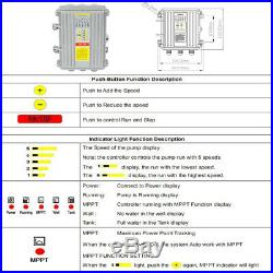 500W 48V DC Solar Pool Pump Swimming Pool Heating, Smart, Max Flow 17m3/h 3M lift