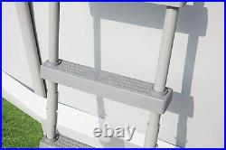 52 Bestway Ladder for Above Ground Pools Durable Rust-Proof Metal Frame