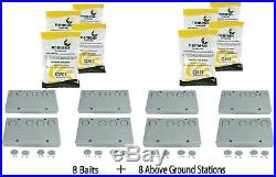 8 Baits & 8 Nemesis Termite Above Ground Monitor Bait Stations Pest Control
