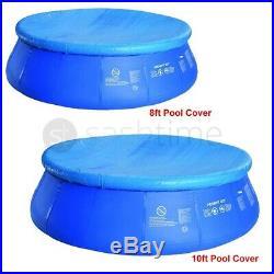 8ft/10ft Fast Set Swimming Pool Cover Round Paddling Sheet Debris Prompt Garden