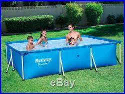 9in1 BestWay SWIMMING POOL 300 x 201 Rectangular Garden Above Ground Pool Steel