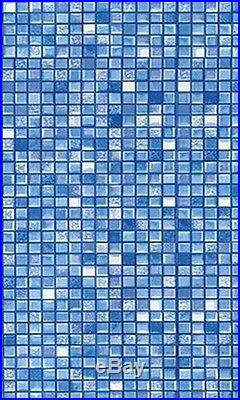 Above Ground Cube Tile Replacement Swimming Pool Overlap Liners 15ft Round
