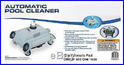 Above Ground Pool Cleaner Automatic Vacuum Floor Picks Up Debris Hassle Free New