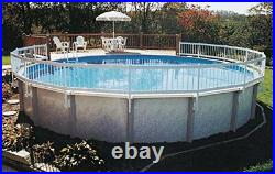 Above Ground Pool Fence Base Kit UV Protected Rigid Vinyl Construction Strong