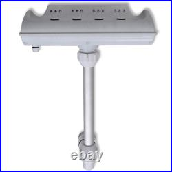 Above Ground Pool LED Waterfall Cascade Multi-Color Waterfall Fountain Jet Light