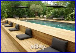 Above Ground Swimming Pool & Bespoke Decking Area Custom Design BBQ Area Seating