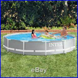 Above Ground Swimming Pool Intex 12ft Large Frame Garden Kids Outdoor Fun Play