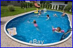 Above Ground Swimming Pool Kit 24x12ft Oval