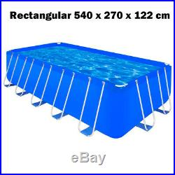 Above Ground Swimming Pool Steel Frame Ladder Cover Choice Rectangular/Round