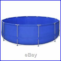 Above Ground Swimming Pool Steel Frame Large Round Rectangular Garden Family