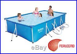 Above Ground Swimming Pool With Frame+pump 400x211x81cm Rectangular Art32955