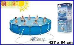 Above Ground Swimming Pool with Pump Filter 427x84 Bestway Steel Frame 427