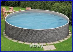 Aqua World Above Ground 12ft x 4ft Rattan Round Swimming Pool