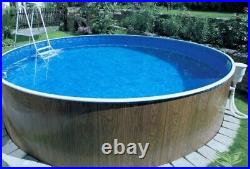 Aqua World Above Ground 12ft x 4ft Satinwood Round Swimming Pool
