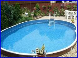 Aqua World Above Ground 18ft x 12ft Oval Swimming Pool
