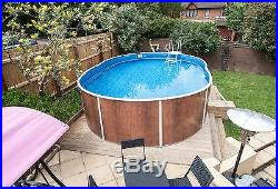 Aqua World Above Ground 18ft x 12ft Oval Swimming Pool