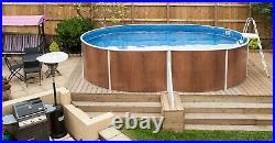 Aqua World Above Ground 18ft x 12ft Satinwood Oval Swimming Pool