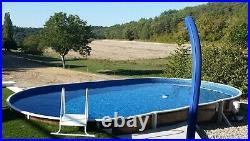 Aqua World Above Ground 24ft x 12ft Oval Swimming Pool
