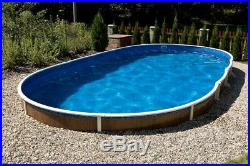 Aqua World Above Ground 24ft x 12ft Oval Swimming Pool