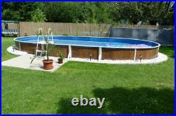 Aqua World Above Ground 30ft x 15ft Satinwood Oval Swimming Pool