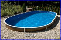 Aqua World Above Ground 30ft x 15ft Satinwood Oval Swimming Pool