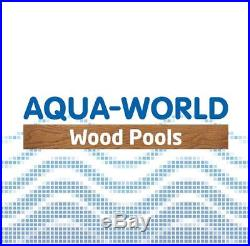 Aqua World Above Ground Steel Satinwood Effect 12ft x 3.5ft Round Swimming Pool