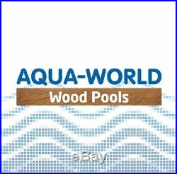 Aqua World Above Ground Steel Satinwood Effect 3.6m x 1.1m Round Swimming Pool