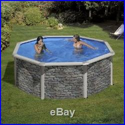 Aqua World Above Ground Stone Effect 11.5ft x 4ft Round Swimming Pool