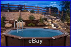 Aqua World Above Ground Wooden 4.34m x 4.01m x 1.16m Octagonal Swimming Pool