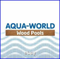 Aqua World Above Ground Wooden Hexagonal Swimming Pool- 3.54m x 3.07m x 1.16m